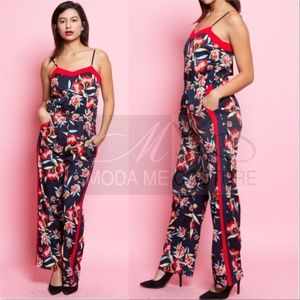 STUNNING FLORAL PRINT JUMPSUIT